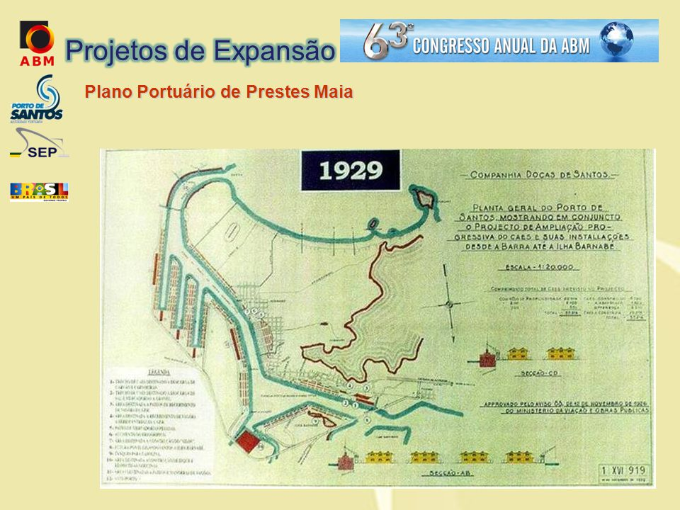 Projetos de Expansão Plano Portuário de Prestes Maia