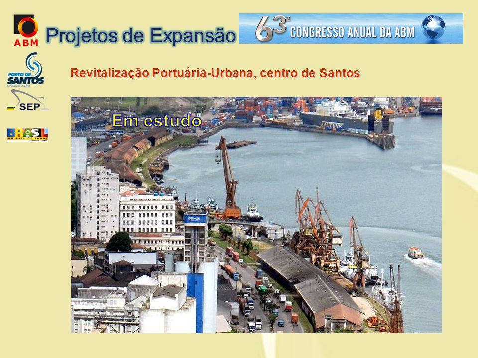 Projetos de Expansão Revitalização Portuária-Urbana, centro de Santos