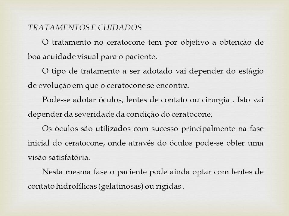 TRATAMENTOS E CUIDADOS
