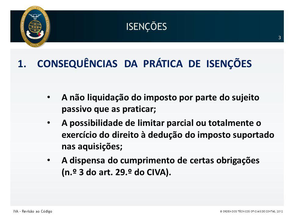CONSEQUÊNCIAS DA PRÁTICA DE ISENÇÕES