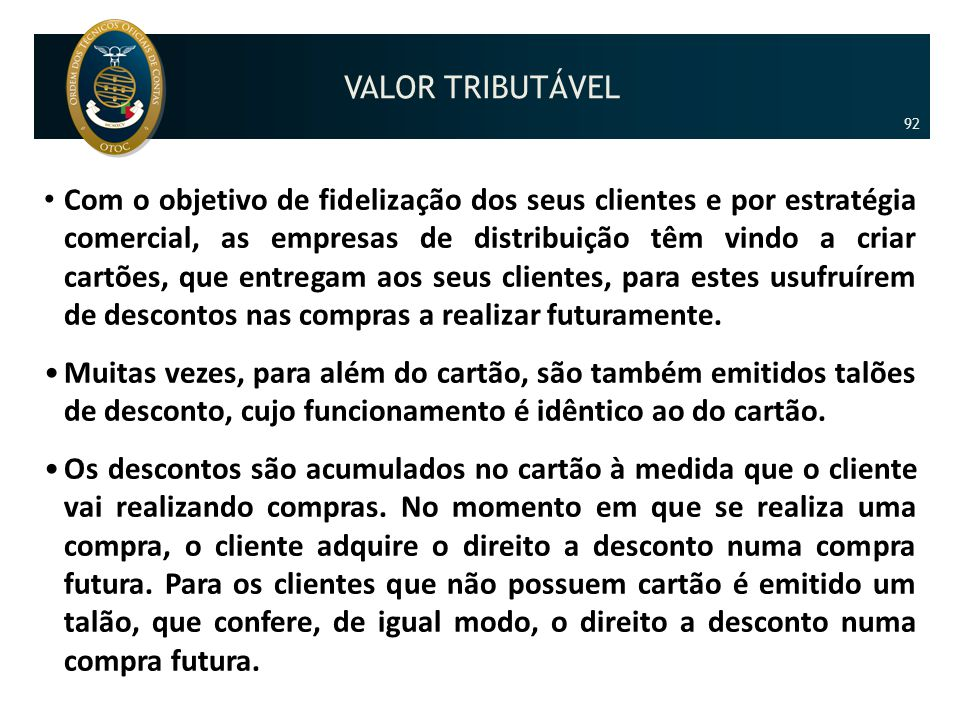 VALOR TRIBUTÁVEL 92.