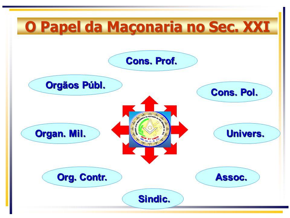 O Papel da Maçonaria no Sec. XXI