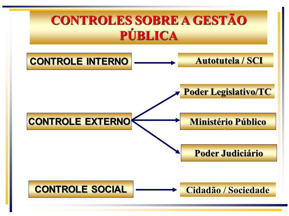 CONTROLES SOBRE A GESTÃO PÚBLICA