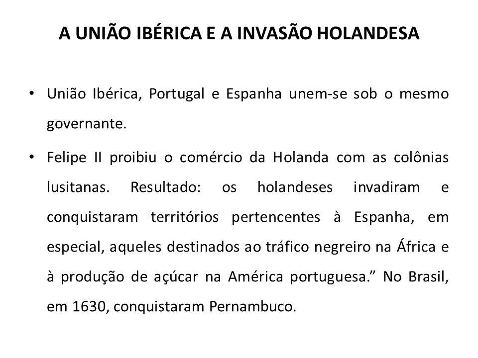 A UNIÃO IBÉRICA E A INVASÃO HOLANDESA