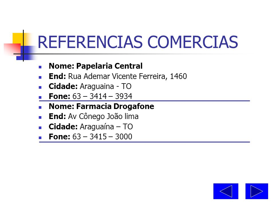 REFERENCIAS COMERCIAS