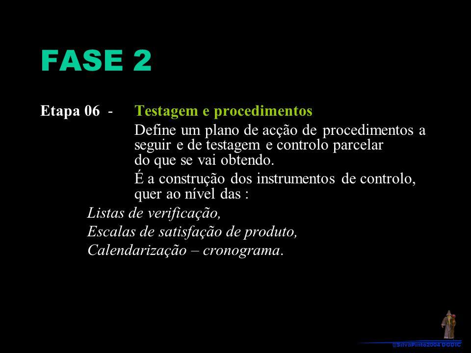 FASE 2 Etapa 06 - Testagem e procedimentos