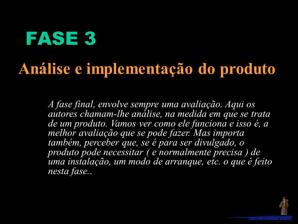 FASE 3 Análise e implementação do produto