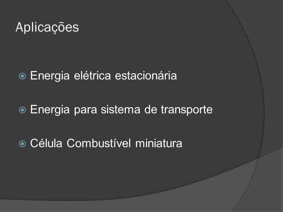 Aplicações Energia elétrica estacionária