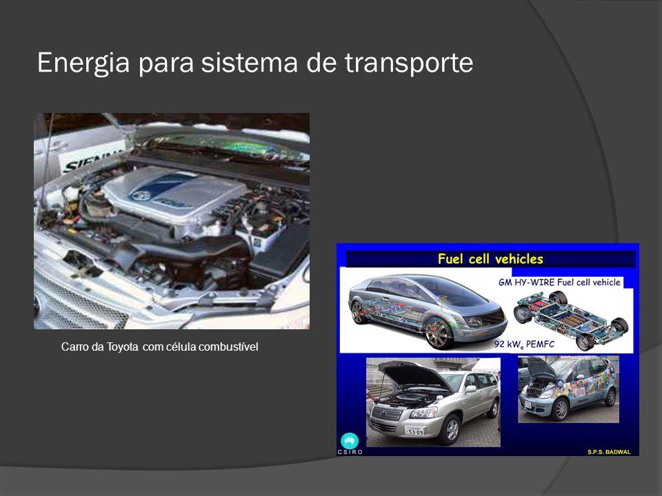 Energia para sistema de transporte