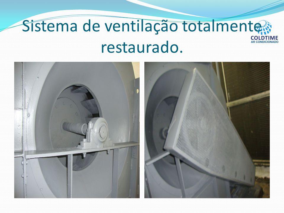 Sistema de ventilação totalmente restaurado.