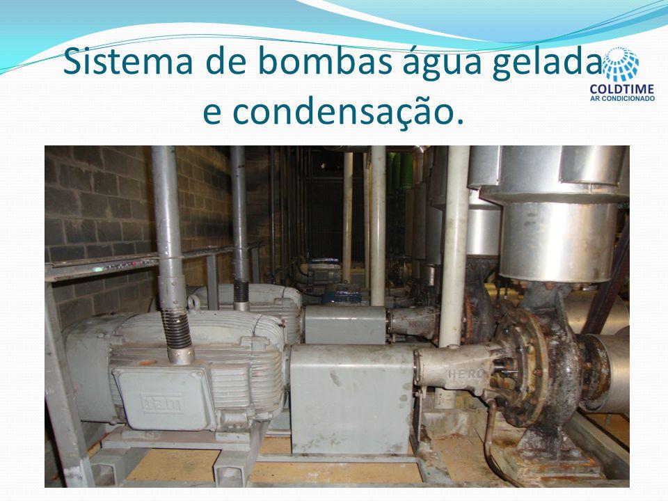 Sistema de bombas água gelada e condensação.