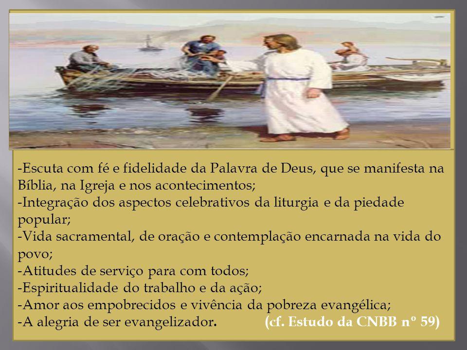 -Escuta com fé e fidelidade da Palavra de Deus, que se manifesta na Bíblia, na Igreja e nos acontecimentos;