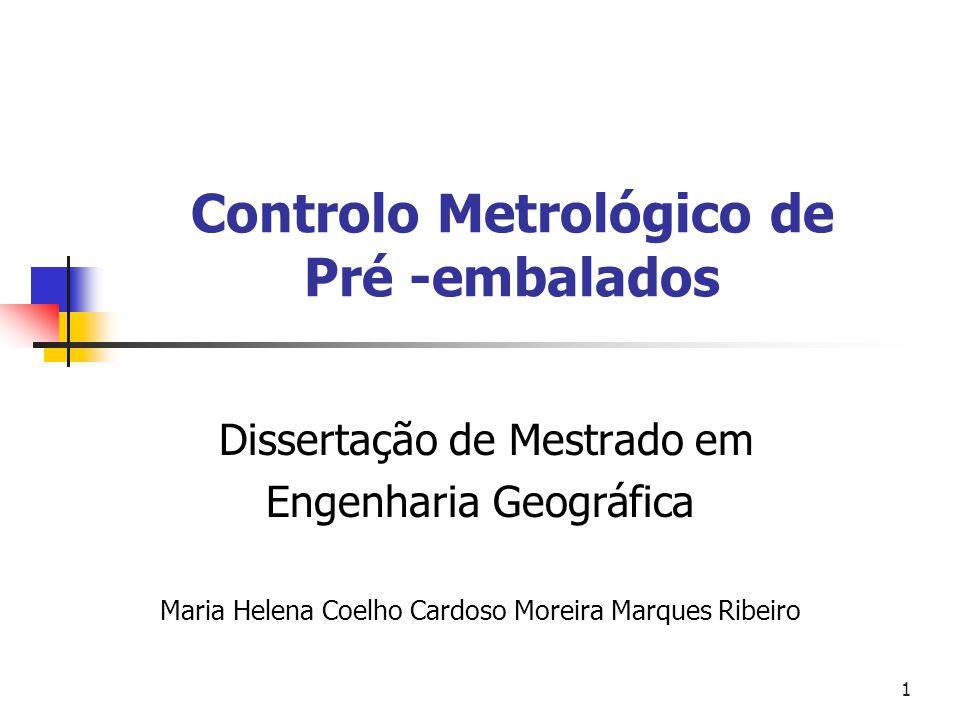 Controlo Metrológico de Pré -embalados