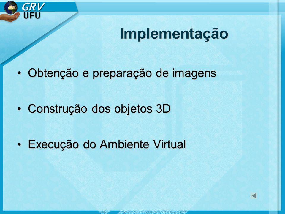 Implementação Obtenção e preparação de imagens