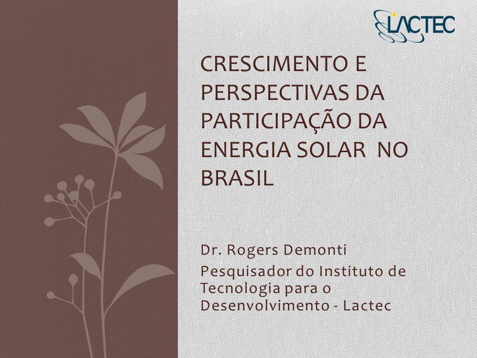 Crescimento e Perspectivas da Participação da Energia Solar no Brasil