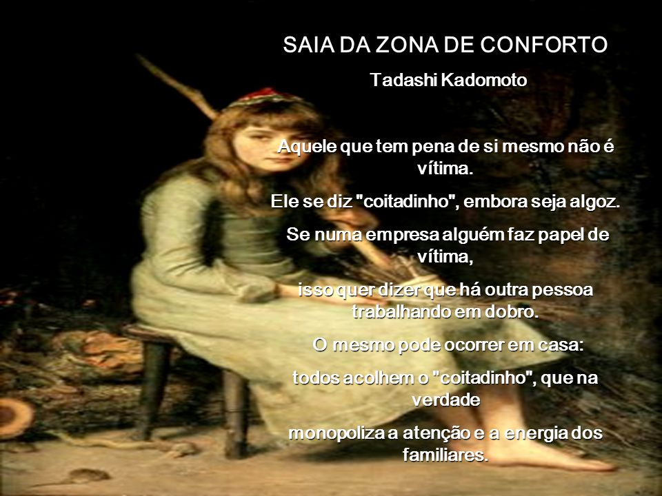 SAIA DA ZONA DE CONFORTO 00 00 00 01