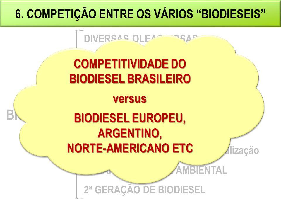 BIODIESEL 6. COMPETIÇÃO ENTRE OS VÁRIOS BIODIESEIS