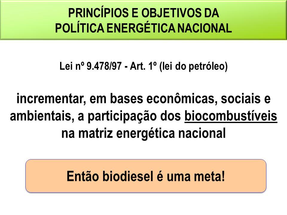 Então biodiesel é uma meta!