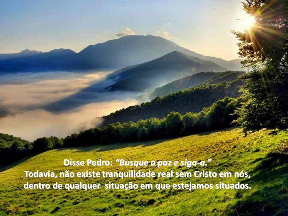 Disse Pedro: Busque a paz e siga-a