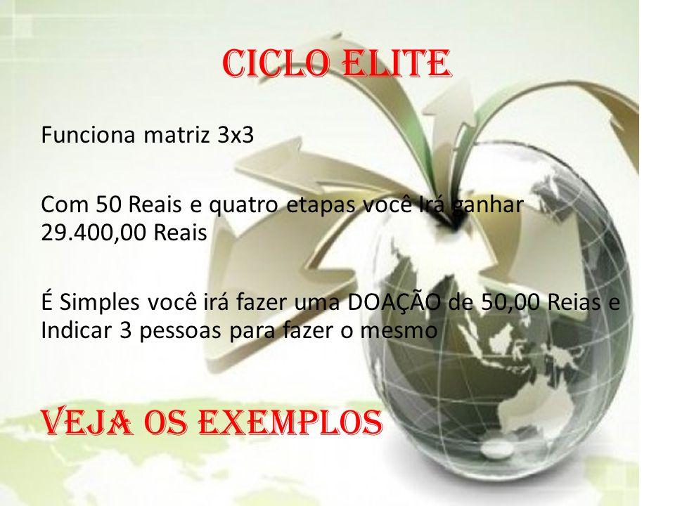 CICLO ELITE VEJA OS EXEMPLOS Funciona matriz 3x3