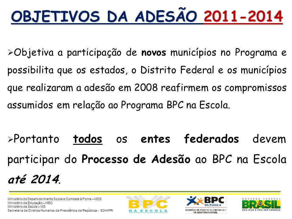 OBJETIVOS DA ADESÃO 2011-2014