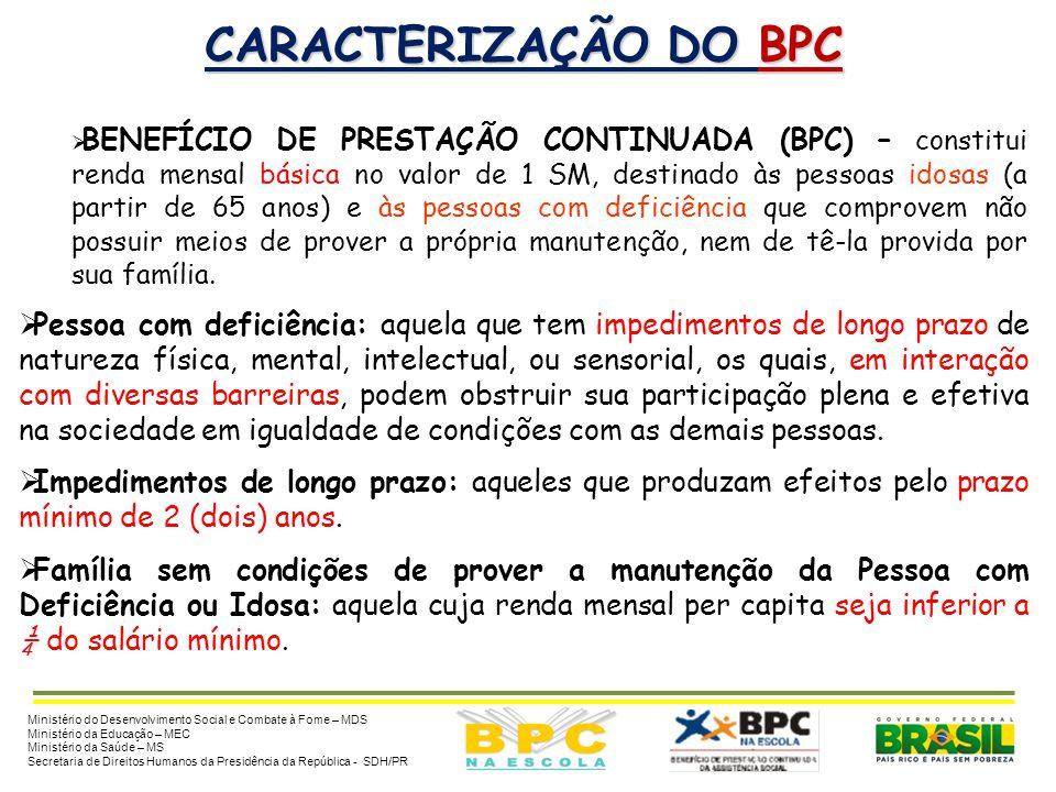 CARACTERIZAÇÃO DO BPC