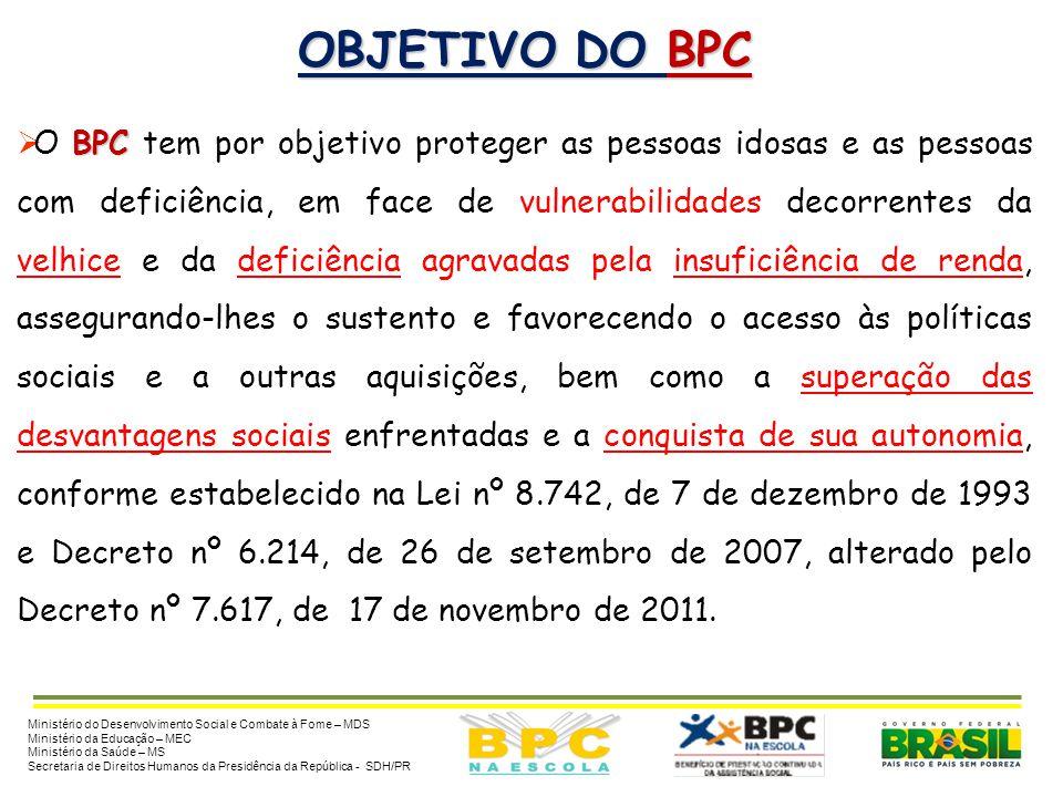 OBJETIVO DO BPC