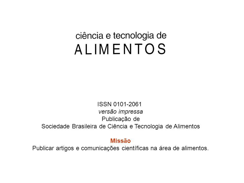 ISSN 0101-2061 versão impressa