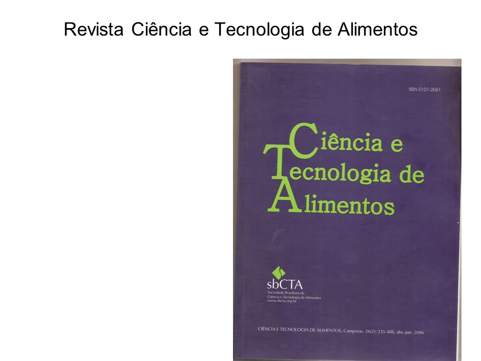 Revista Ciência e Tecnologia de Alimentos