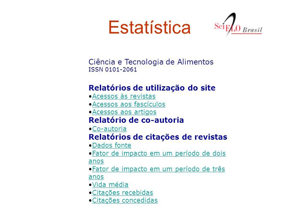 Estatística Relatórios de utilização do site