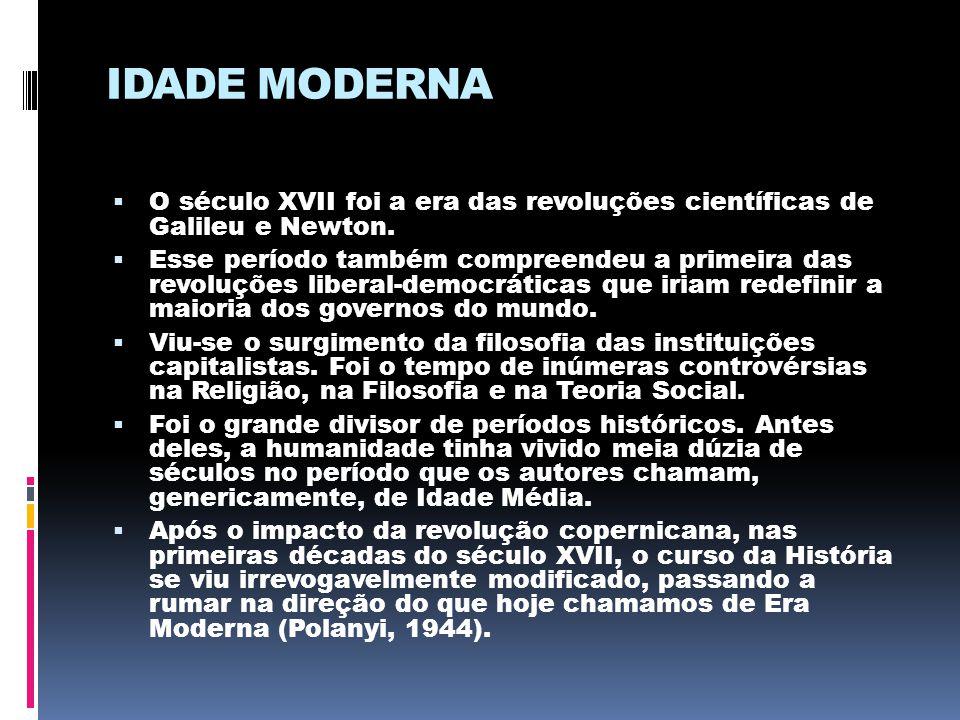 IDADE MODERNA O século XVII foi a era das revoluções científicas de Galileu e Newton.