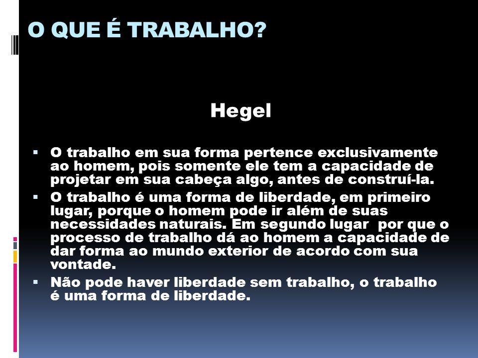 O QUE É TRABALHO Hegel.