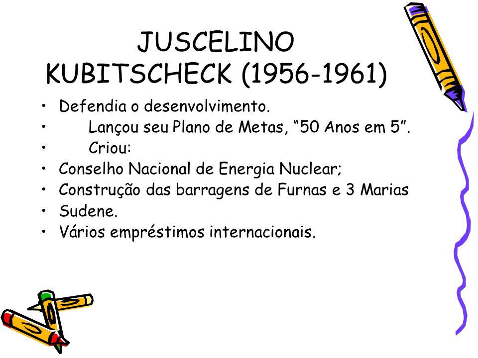 JUSCELINO KUBITSCHECK (1956-1961)