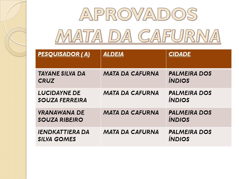 APROVADOS MATA DA CAFURNA