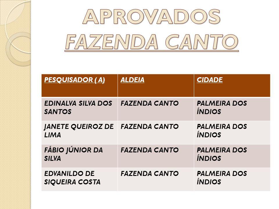 APROVADOS FAZENDA CANTO