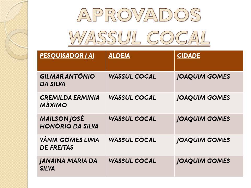 APROVADOS WASSUL COCAL