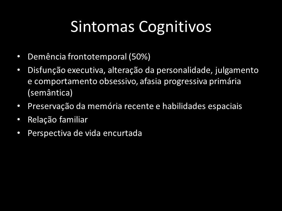 Sintomas Cognitivos Demência frontotemporal (50%)