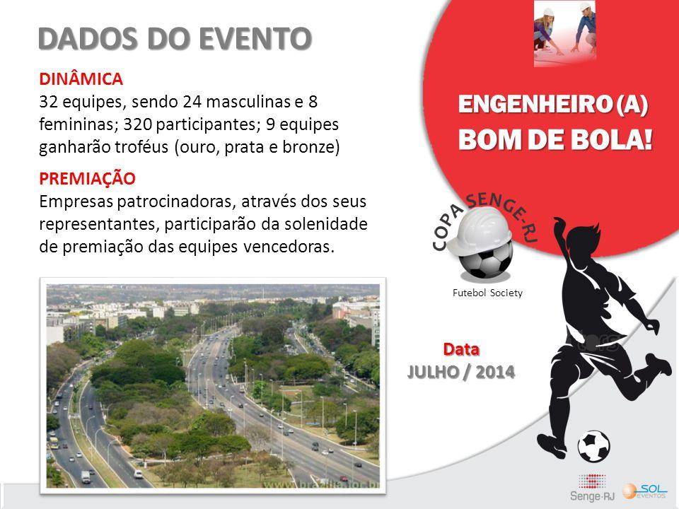 DADOS DO EVENTO BOM DE BOLA! ENGENHEIRO (A) DINÂMICA