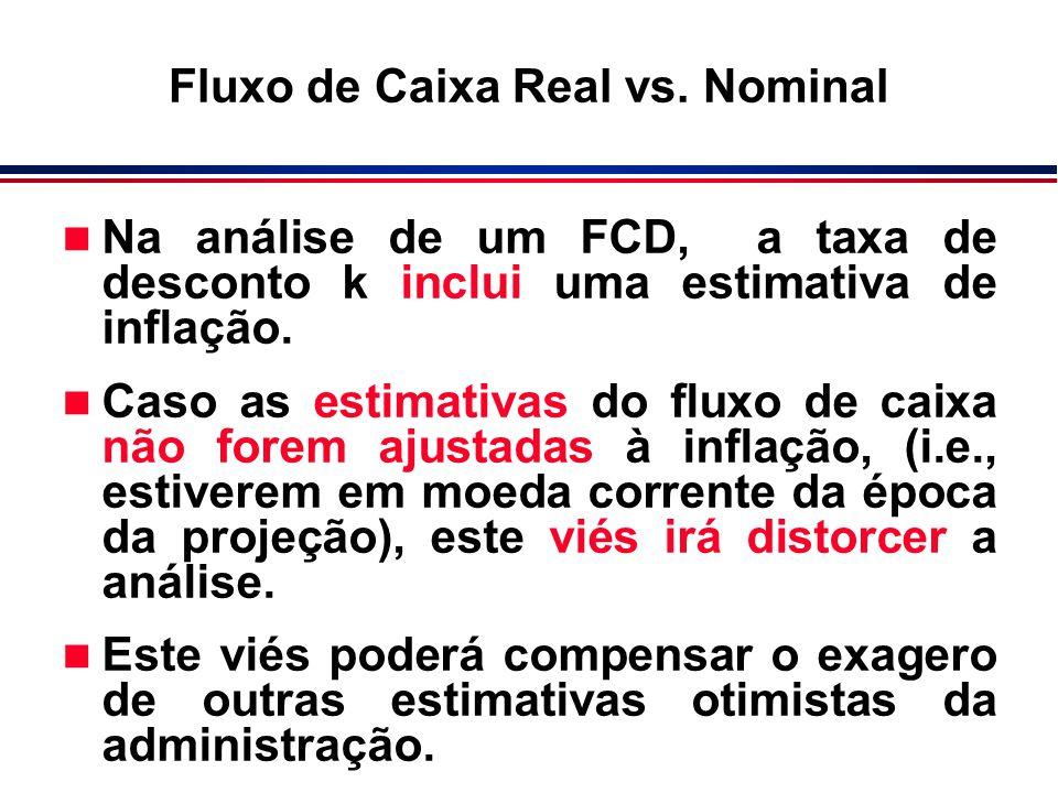Fluxo de Caixa Real vs. Nominal