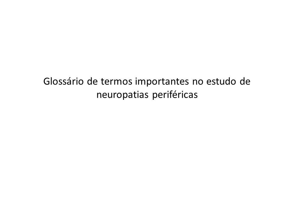 Glossário de termos importantes no estudo de neuropatias periféricas