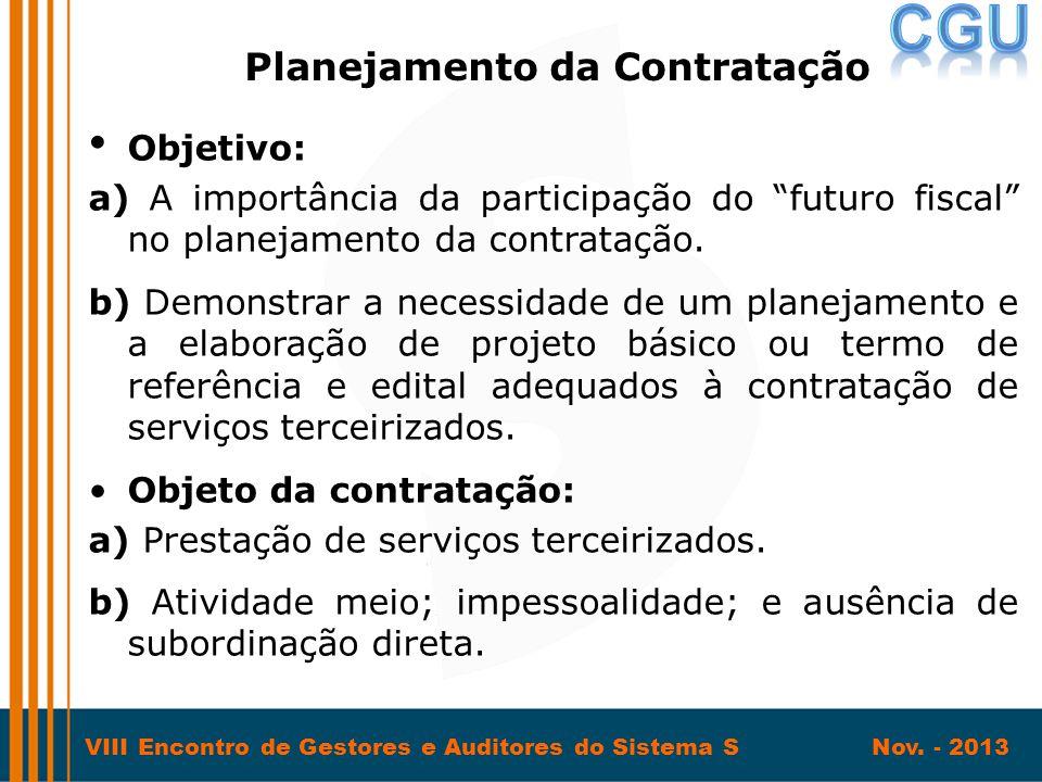 Planejamento da Contratação