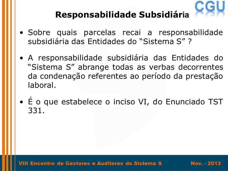 Responsabilidade Subsidiária
