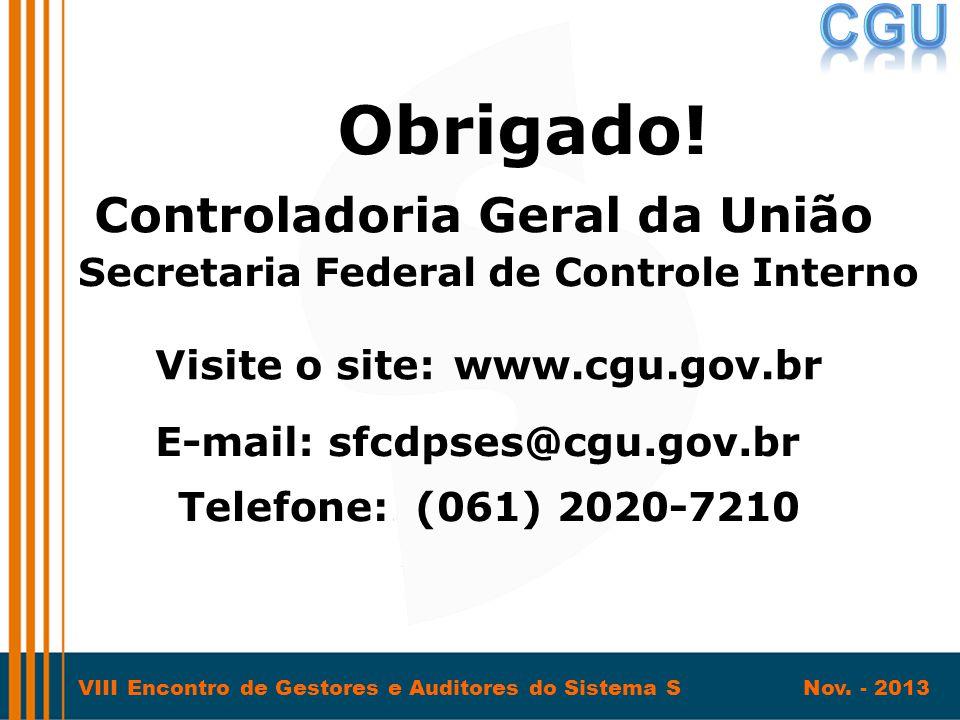 Controladoria Geral da União Secretaria Federal de Controle Interno