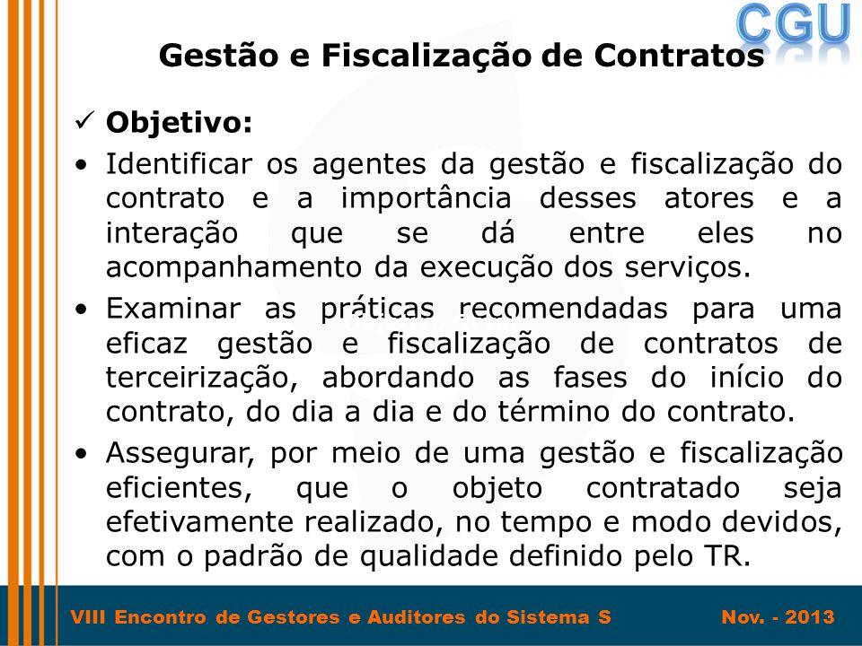 Gestão e Fiscalização de Contratos