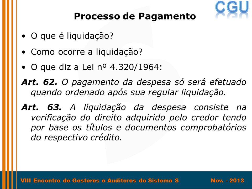 Processo de Pagamento O que é liquidação Como ocorre a liquidação