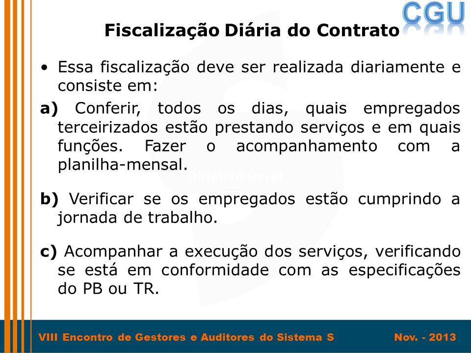 Fiscalização Diária do Contrato