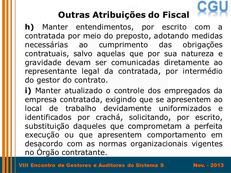 Outras Atribuições do Fiscal