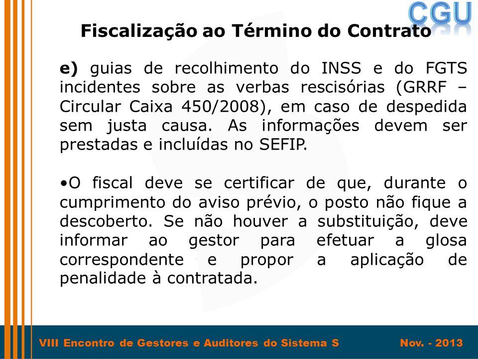Fiscalização ao Término do Contrato
