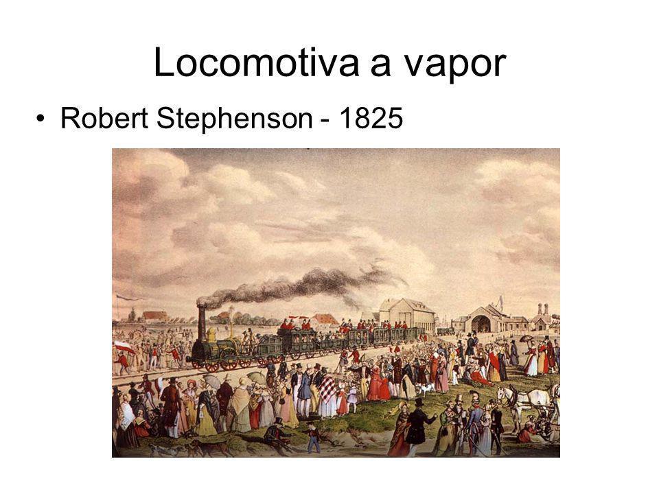 Locomotiva a vapor Robert Stephenson - 1825