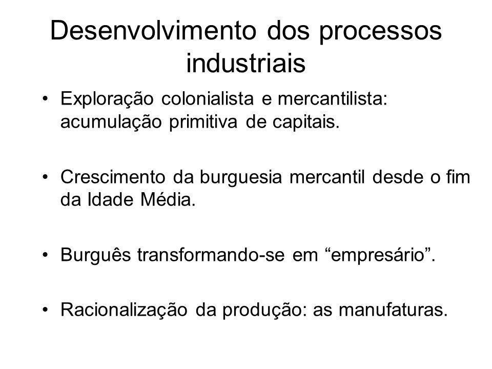 Desenvolvimento dos processos industriais